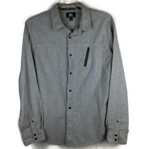 Rock & Republic Size L Long Sleeve Zip Pocket